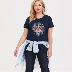 Torrid Floral Graphic Mandala Comfy All Day Tee